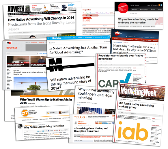 The Five Contradictions of Native Advertising