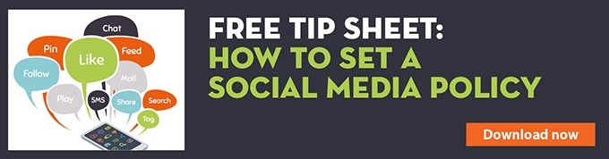 Free tip sheet: how to set a social media policy
